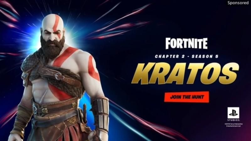 kratos in fortnite ad image