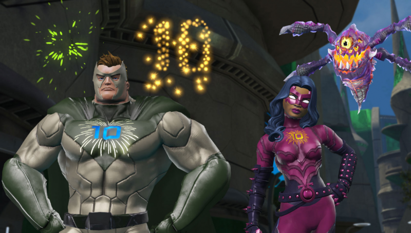DC Universe Online 10 Year Anniversary Offers Players Free In-Game Gifts