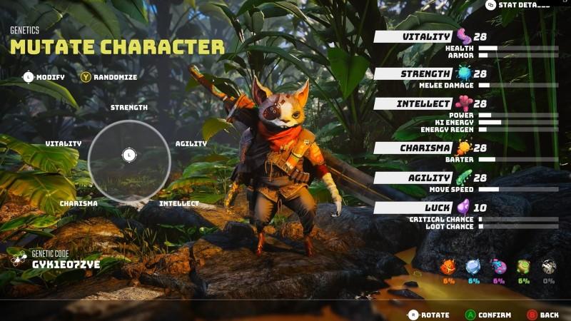 biomutant character creator 2021 | RPG Jeuxvidéo