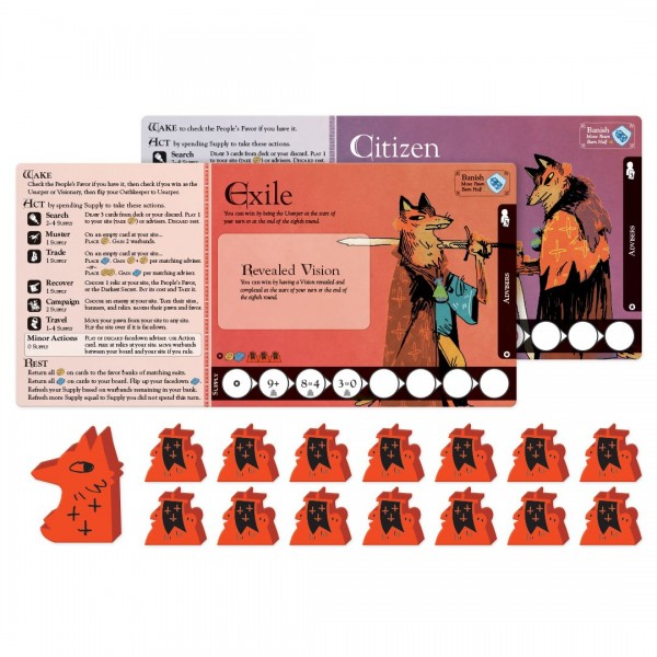 oath red playerboard meeples Oath Is One Of The Strangest (And Best) Board Games Of The Year