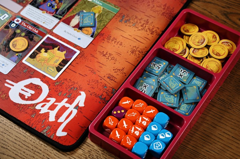 4 oath component tray with cardboard Oath Is One Of The Strangest (And Best) Board Games Of The Year