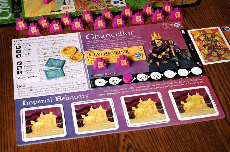 5 oath player board w components chancellor Oath Is One Of The Strangest (And Best) Board Games Of The Year