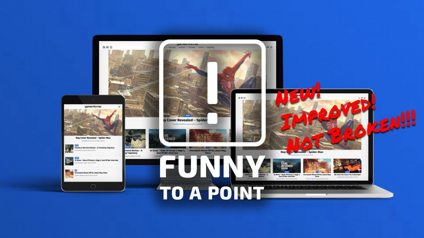 Funny to a Point – Hallelujah, We Have A New Website!