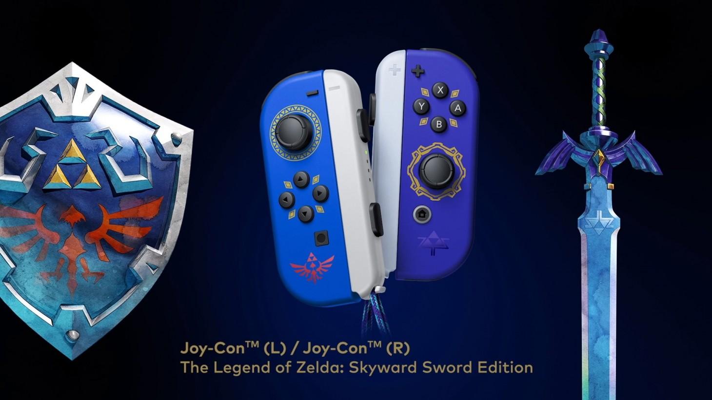 Special Edition Legend Of Zelda: Skyward Sword Joy-Cons Revealed For Nintendo  Switch - Game Informer