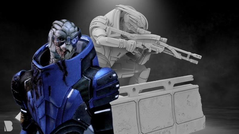 BioWare Teases A New Mass Effect Garrus Statue Coming Soon