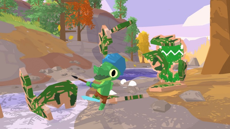 Explore A Cheerful Island Playground In Lil Gator Game