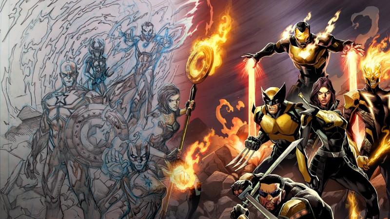 Marvel's Midnight Suns Game Informer Cover Time-Lapse